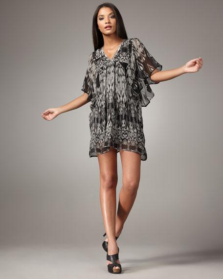 Burke Ikat-Print Dress