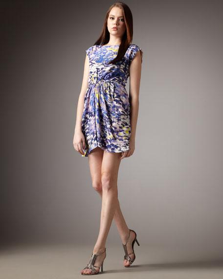 Impressionist-Print Shift Dress