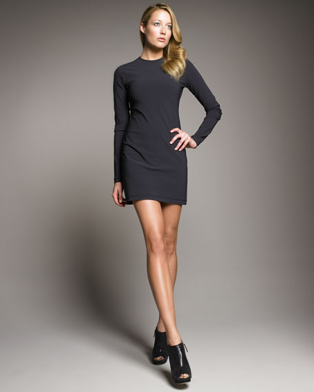 Jersey Trapunto-Shoulder Dress