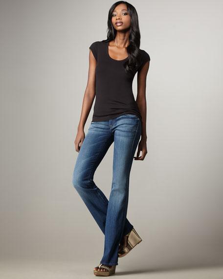 A-Pocket Oceanside Boot-Cut Jeans
