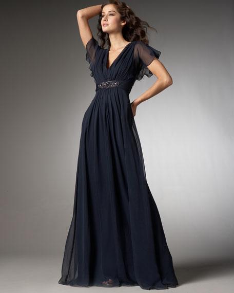 Beaded-Waist Gown, Women's