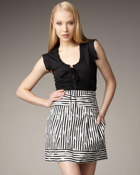 Savage Girl Stripe Skirt