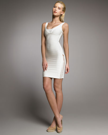 Lace-Up Bandage Dress