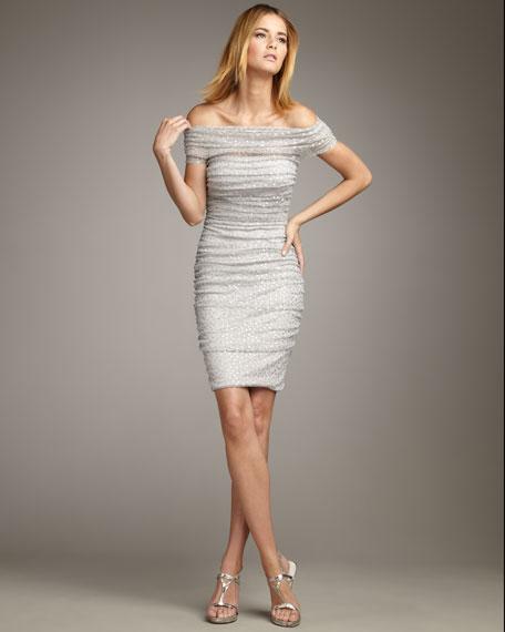 Off-the Shoulder Sequin Dress