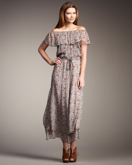 Liberty-Print Maxi Dress