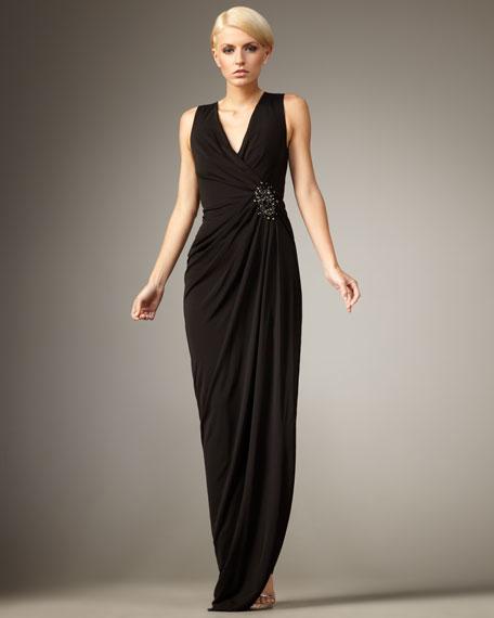 Chloe Draped Jersey Gown