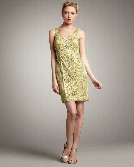 Applique Sheath Dress