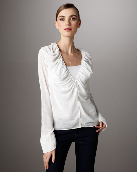 Burnout Chiffon Top