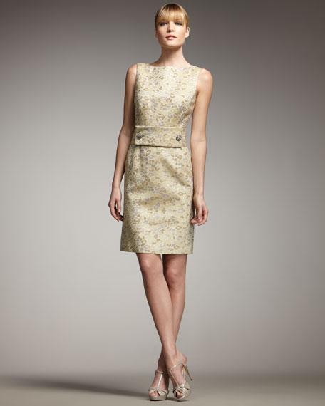 High-Neck Animal-Print Dress