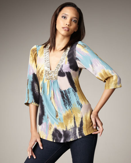 Printed Sequin Caftan