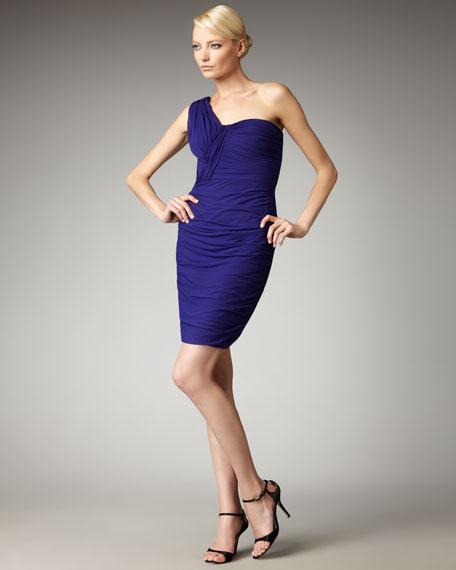 One-Shoulder Ruched Dress