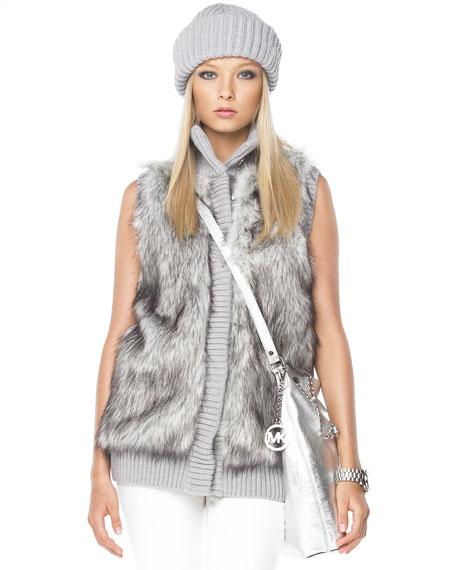 Faux-Fur Front Vest, Women's