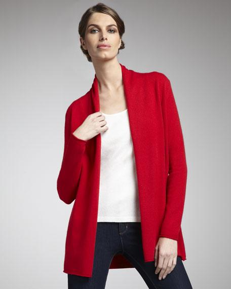 Cashmere Open-Front Cardigan, Women's