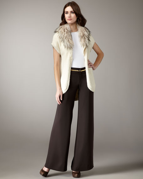 Eric Pleated-Front Pants, Chocolate