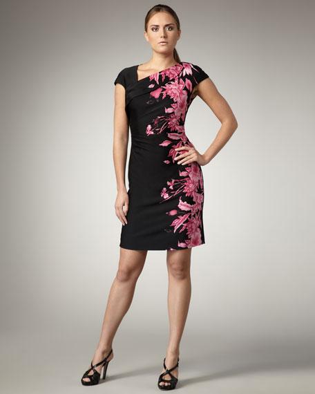 Floral Side-Print Dress