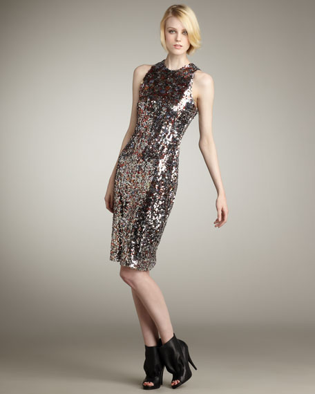 Sequin Racerback Dress