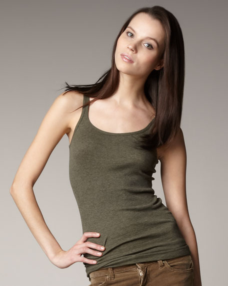 Favorite Tank, Heather Olive