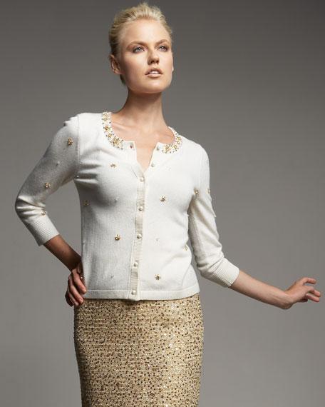 elizabeth sequined cardigan