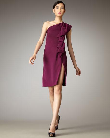 Isabella One-Shoulder Ruffle Dress