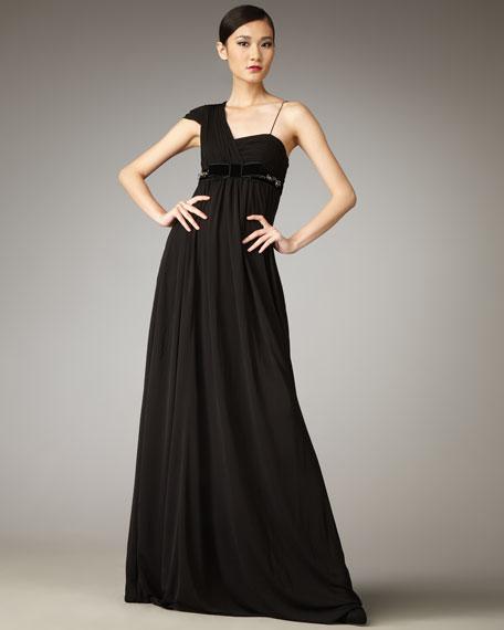 Zoe One-Shoulder Gown
