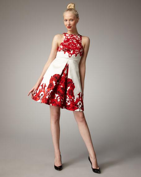 Rococo-Printed Silk Dress