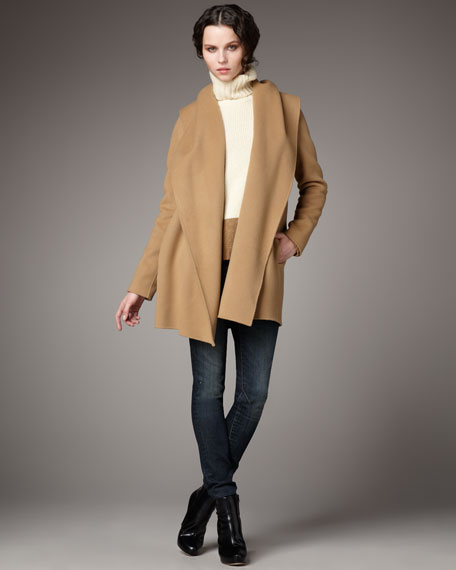Hooded Drape Coat