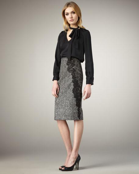 Madison Lace-Panel Skirt