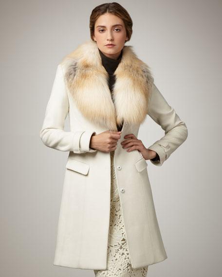 Joanne Fur-Trim Coat