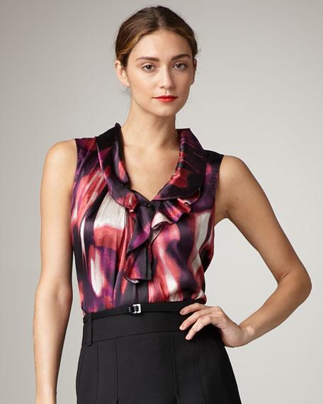 Eloise Printed Silk Blouse