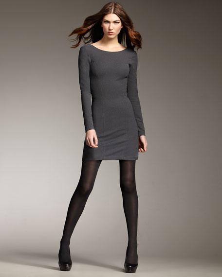 Open-Back Long-Sleeve Dress