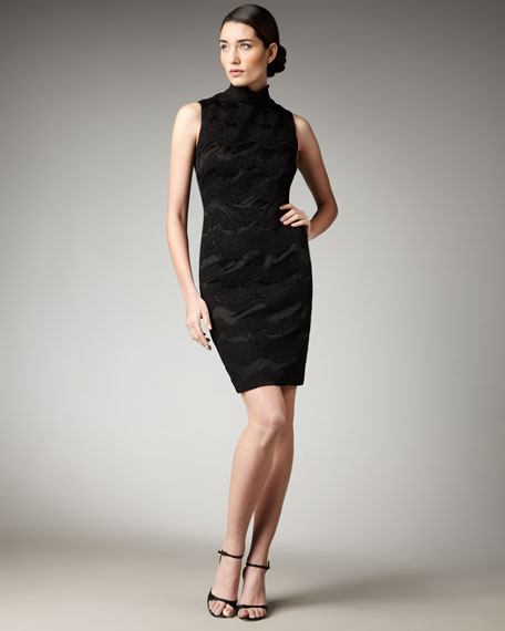 High-Neck Lace Dress