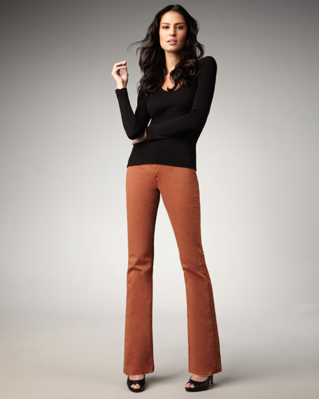 Grace Rust Boot-Cut Jeans