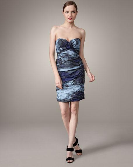 Strapless Waterfall Metal Dress