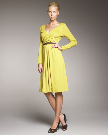 Long-Sleeve Wrap Dress