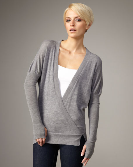 Cross-Neck Pullover