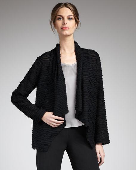 Crinkled Chiffon Jacket