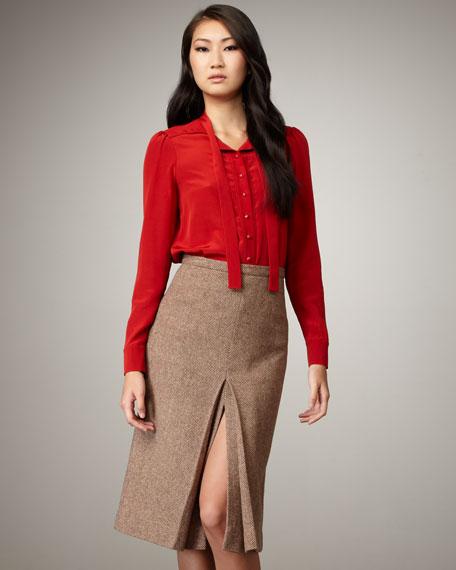 Roxy Herringbone Skirt