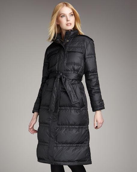 Kent Puffer Coat, Black