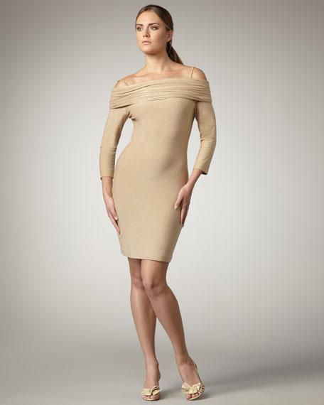 Off-the-Shoulder Metallic Dress