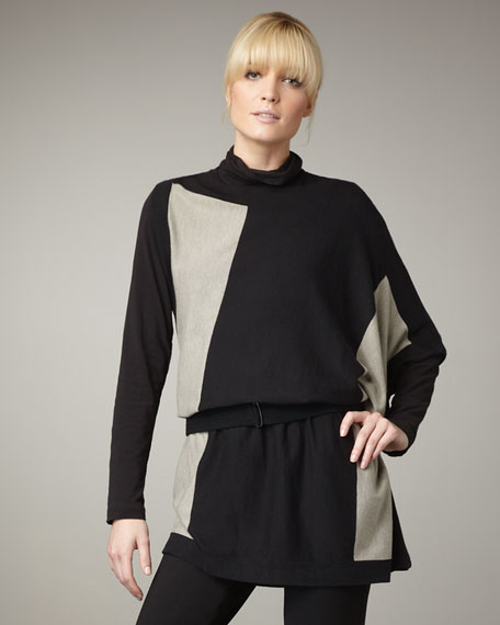 Colorblock Asymmetric Tunic, Women's