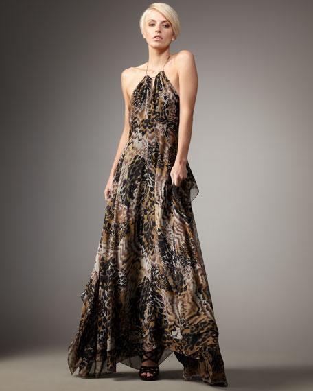Garrison Animal-Print Dress