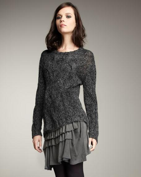 Ruffled Jersey Skirt