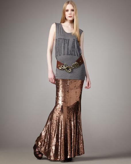 Sequined Mermaid Maxi Skirt