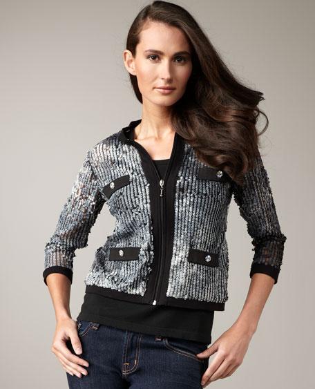 Sequined Zip Jacket, Women's