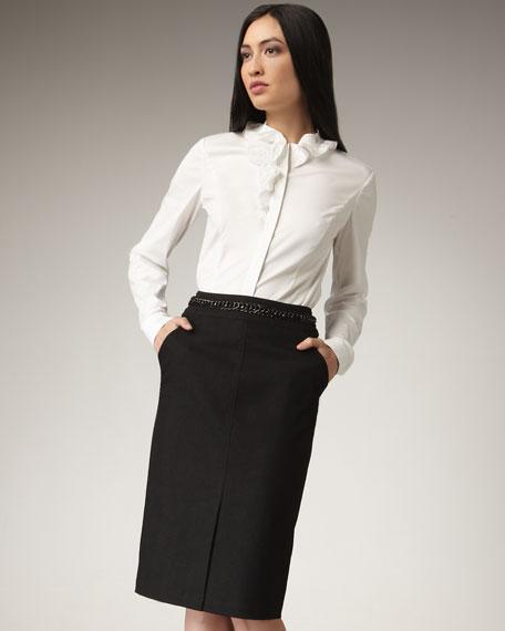 Chain-Detail Skirt