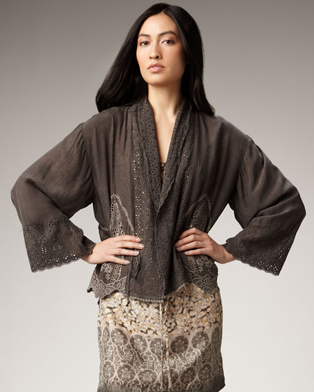 Georgette Cutout Cardigan