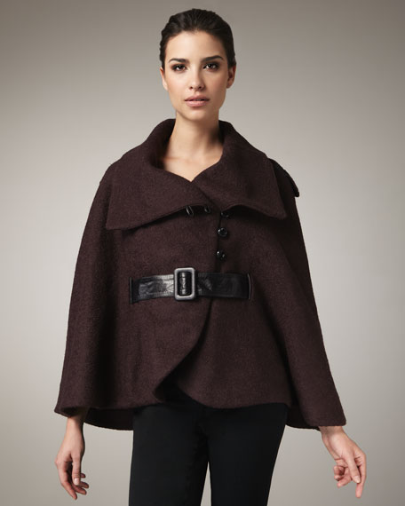 Thea Belted Cape Coat