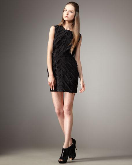 Feathered Chevron Dress