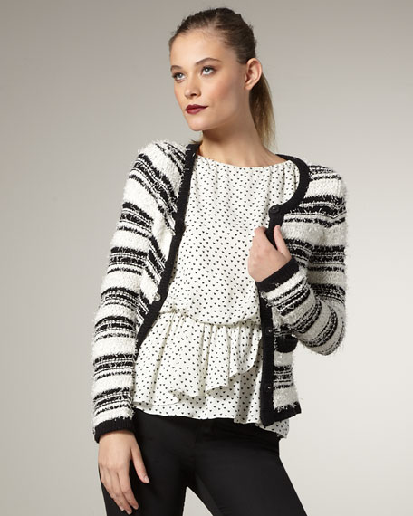 Striped Knit Cardigan