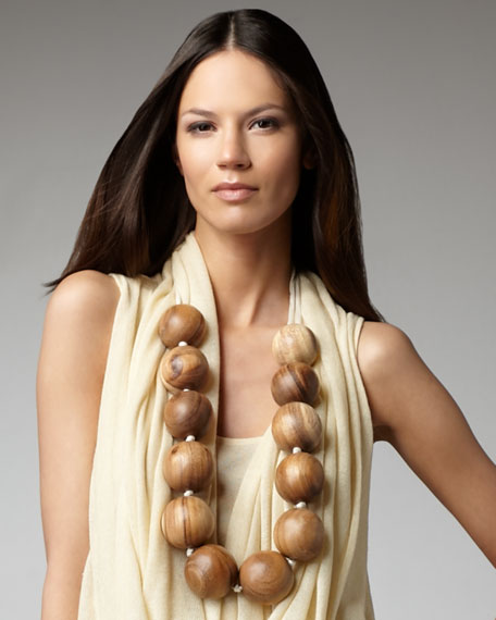 Wooden Bauble Necklace
